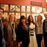 (Left to Right) Jason Robert Brown, Victoria Bailey, Charlotte St. Martin, Stacey Mindich, Kelli O'Hara, and Tom Viertel at the 2016 Robert Whitehead Awards.