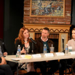 Early Career Producer Panel moderated by Robyn Goodman featuring (from left to right) Lucas McMahon, Brisa Trinchero, John Pinckard, and Julie Boardman